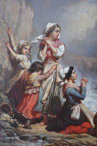 Auguste_Delacroix,_Ramasseuse_de_coquillages_surprises_par_la_marée