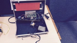 The Irving Police Department provided this photo of the homemade clock; Reuters