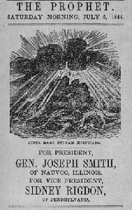 A campaign poster from Joseph Smith's presidential run. Image obtained through creative commons.