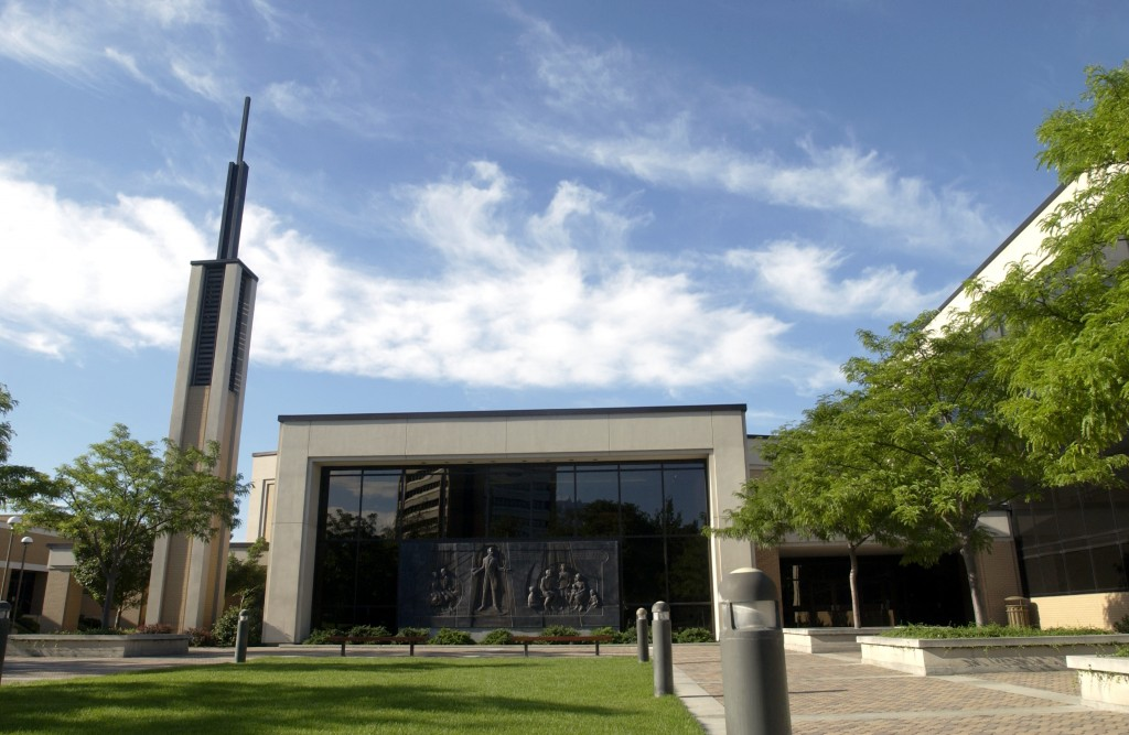 The Joseph Smith Building on the campus of Brigham Young University