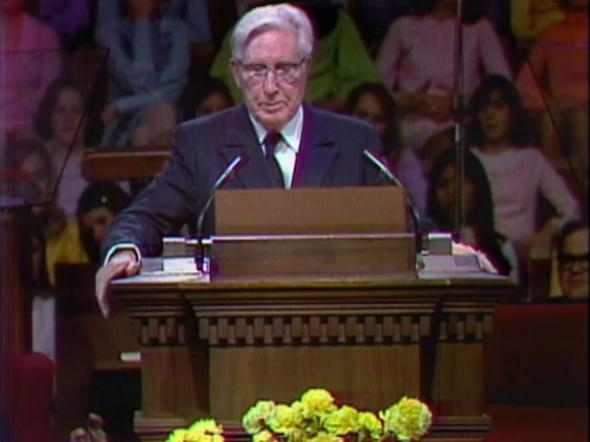 President Brown at the pulpit