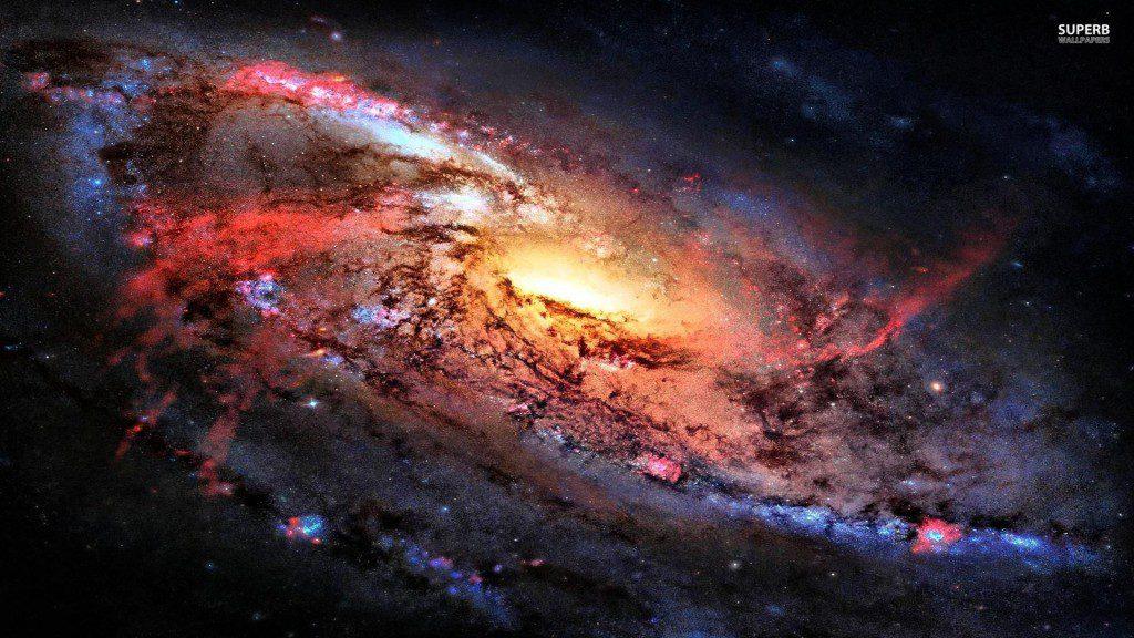 A fiery galaxy, somewhere.