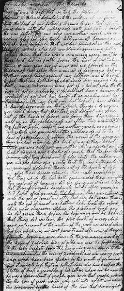 Original Manuscript page (BofM)