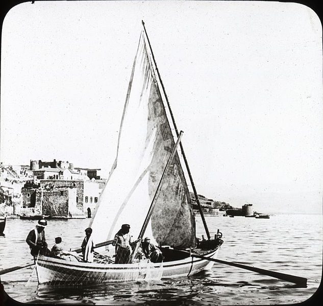 fishing at Kinnereth, Palestine