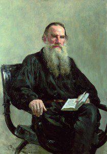 Repin Tolstoy portrait