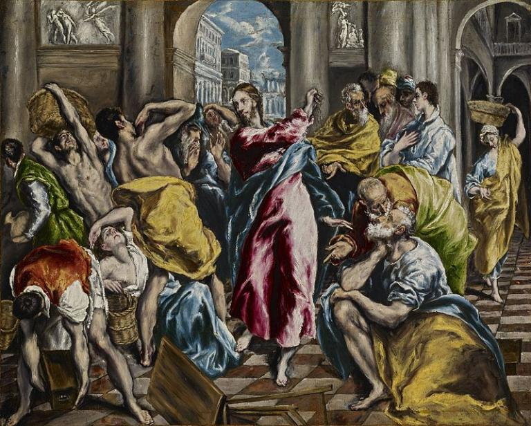 Frick El Greco, Jesus in Temple