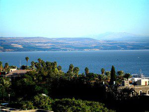 Image of Sea of Galilee from Wikimedia Commons