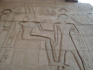 An image from Karnak, obtained from Wikimedia Commons