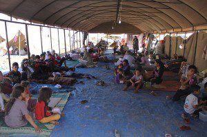 A group of Yazidi refugees in Iraq