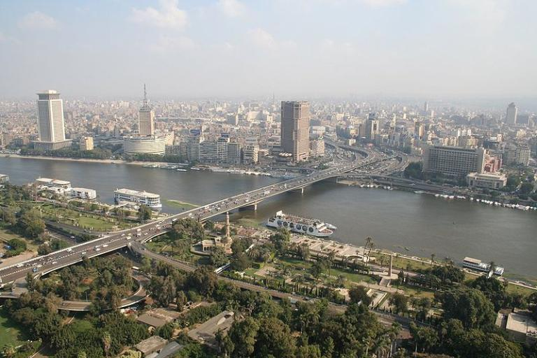 A view of Cairo and the Nile