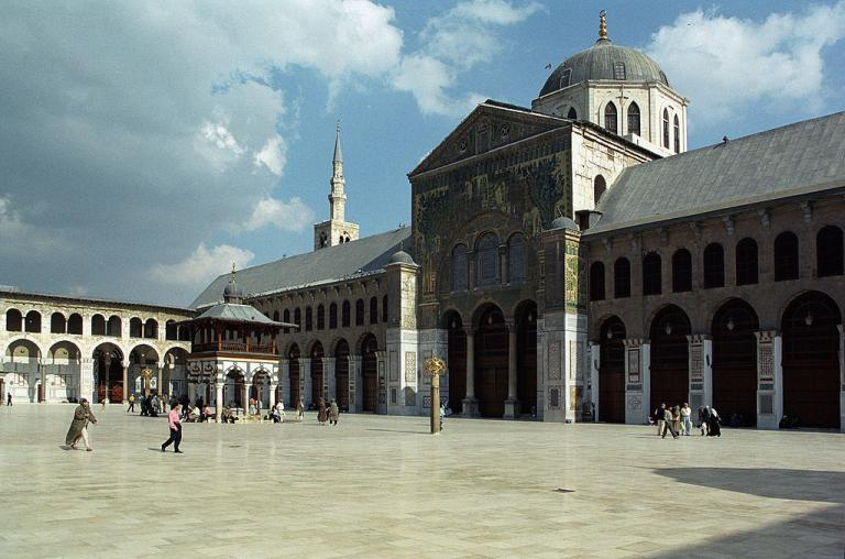 The Grand Umayyad Mosque, in Damascus, Syria