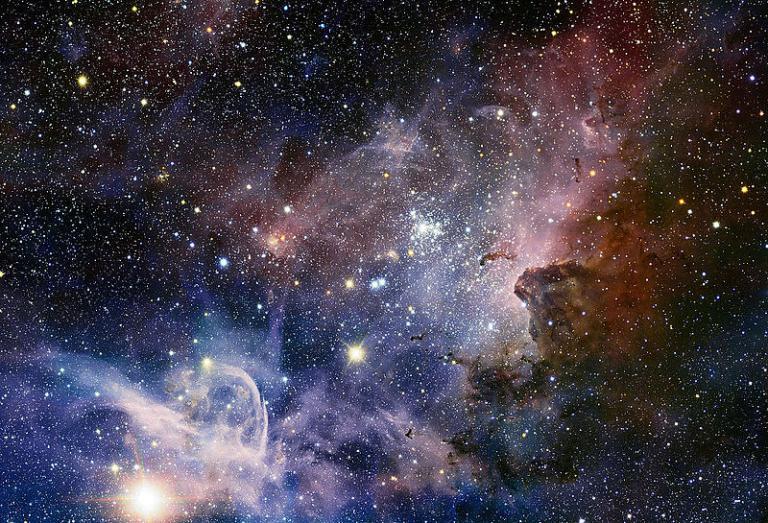 The Carina Nebula, mit Farben