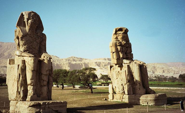 The so-called Colossi of Memnon