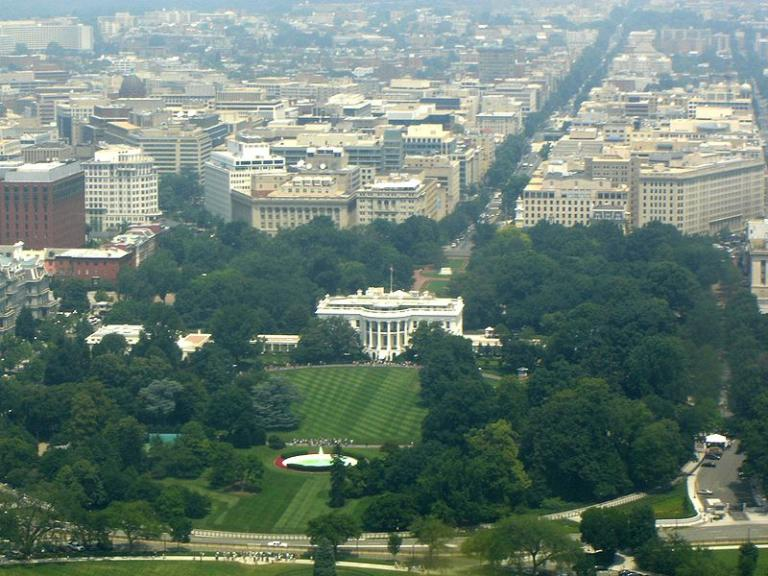 A semi-aerial view of the White House