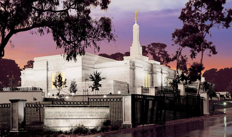The temple in Melbourne, Australia