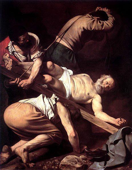 """Caravaggio's """"Crucifixion of St. Peter"""""""