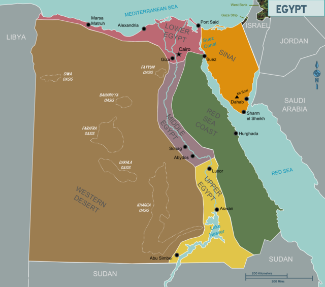 political map of Egypt, sort of