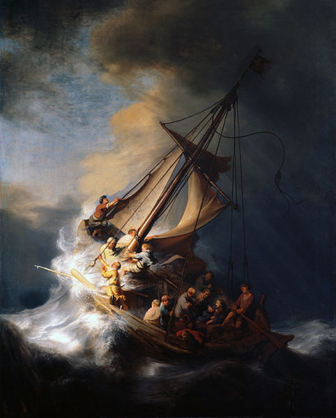 Rembrandt Galilee storm