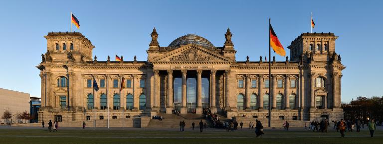 The rebuilt Reichstag Building