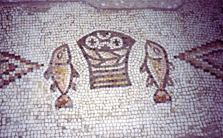 Tabgha fish and loaves mosaic