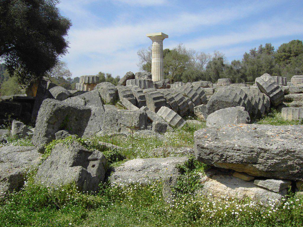 Zeus's temple in Olympia
