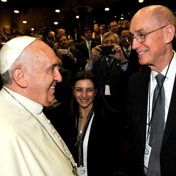 The Pope with a member of the First Presidency