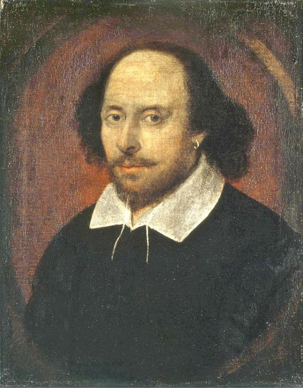 An old portrait of William Shakespeare