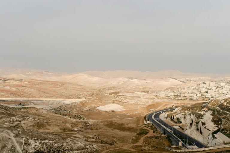 A view eastward from Jerusalem