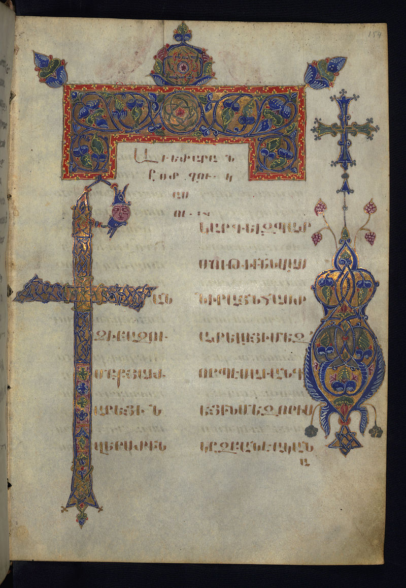 Armenian gospel ms.