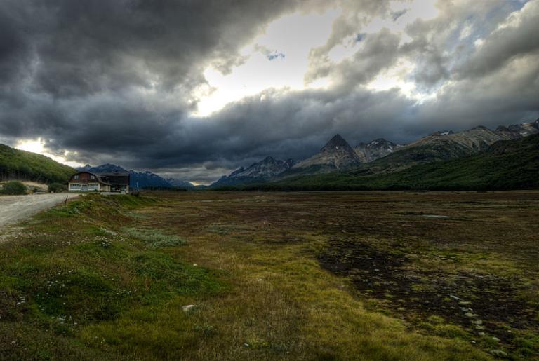 A landscape in Tierra del Fuego