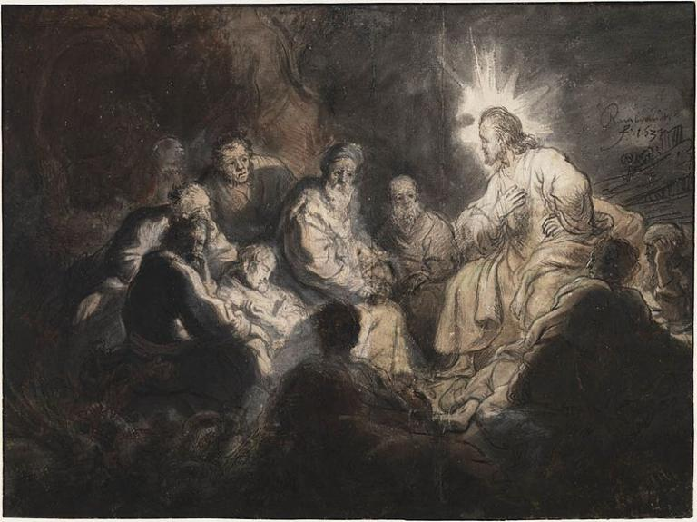 Pen and ink by Rembrandt