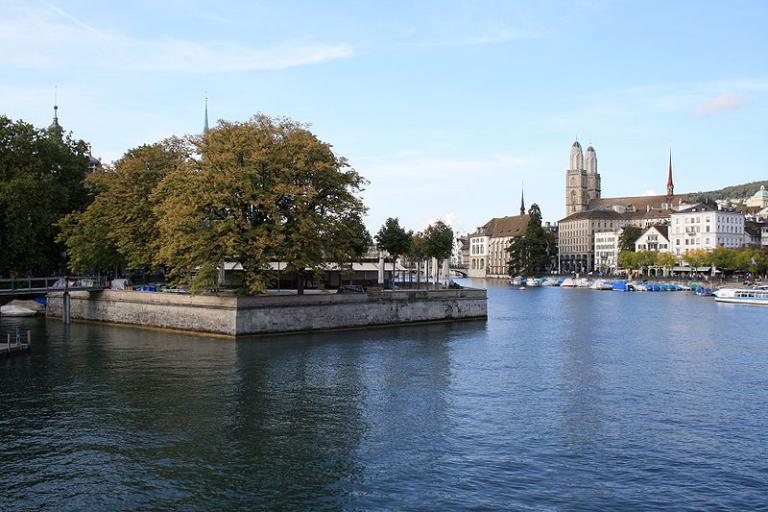 Zurich on the Limmatfluss