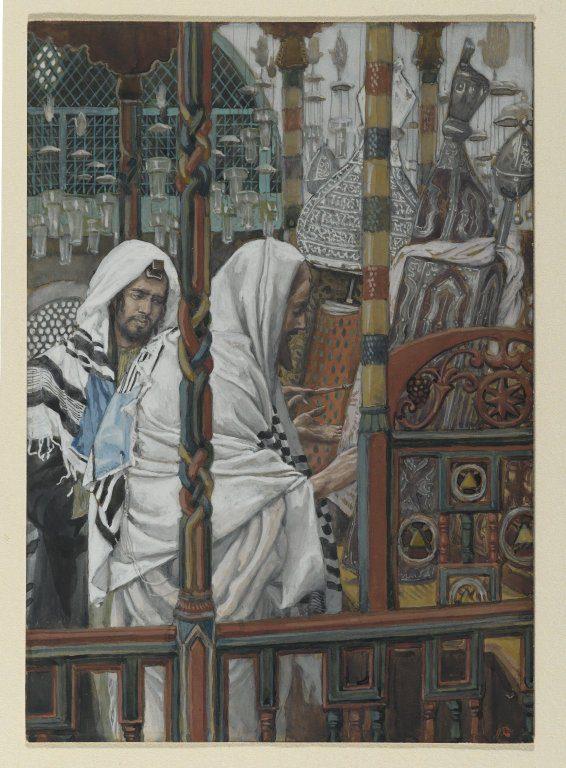 Tissot, Jesus in a synagogue