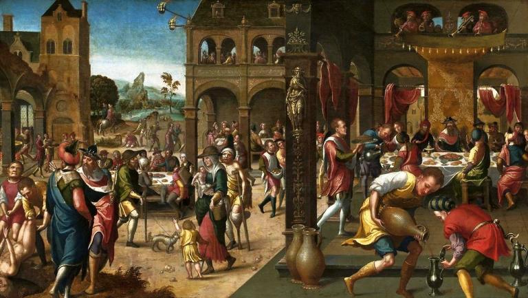 Sixteenth-century image of invitation of Coena Magna