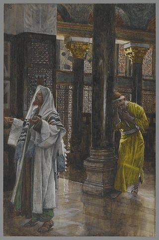 """""""The Pharisee and the Publican,"""" by the Anglo-French artist James Tissot"""