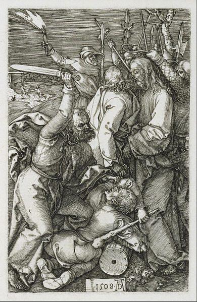 Durer woodcut of betrayal of Jesus