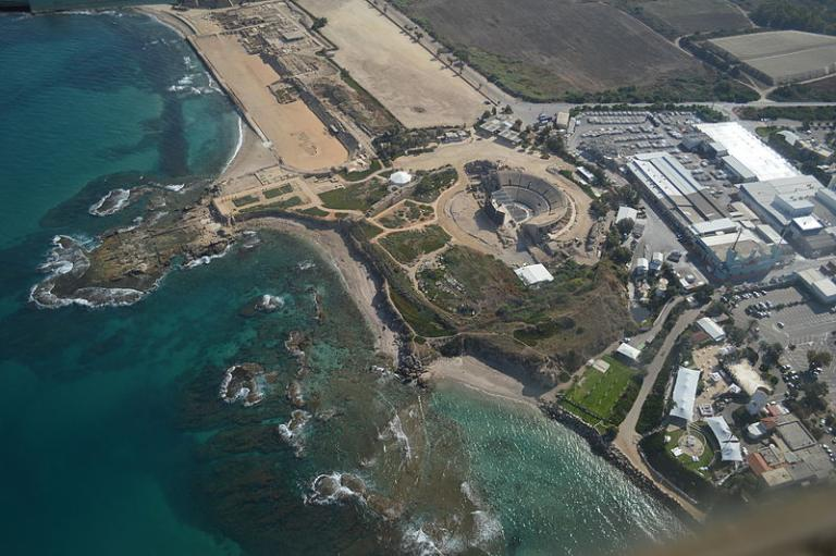 Maritime Caesarea, from the air