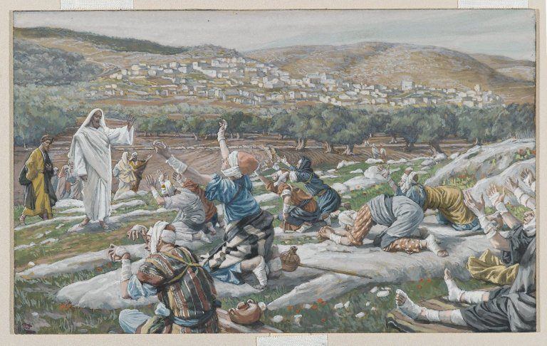 Tissot, cleansing of 10 lepers