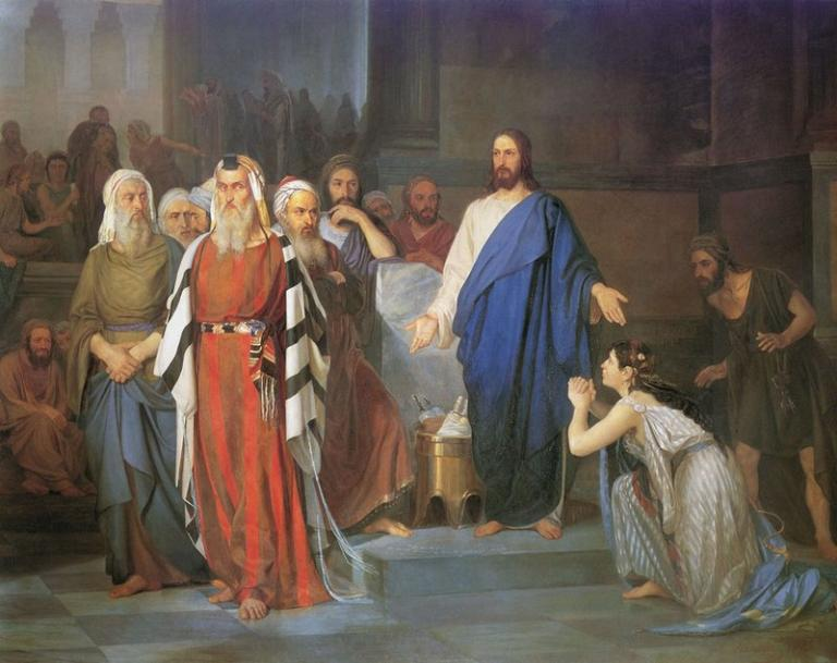 Asknaziy image of Jesus and adulterous woman