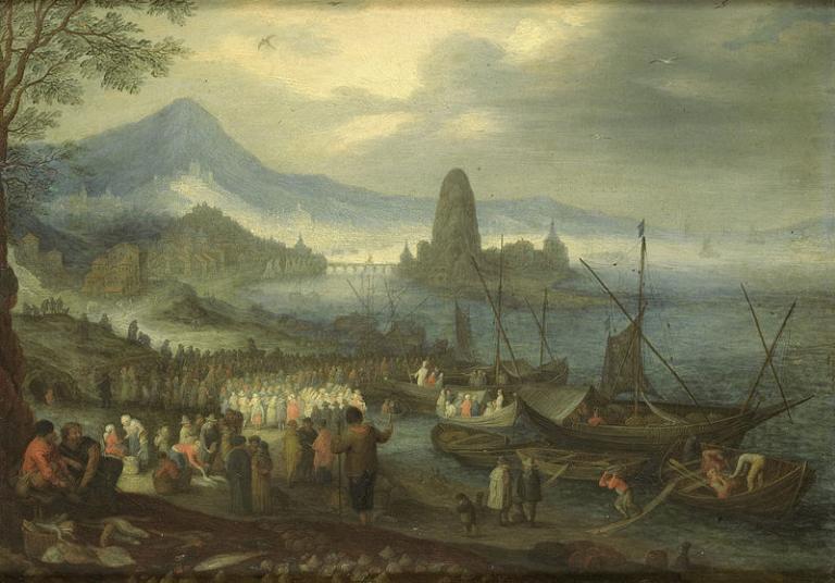 Brueghel painting of Jesus preaching