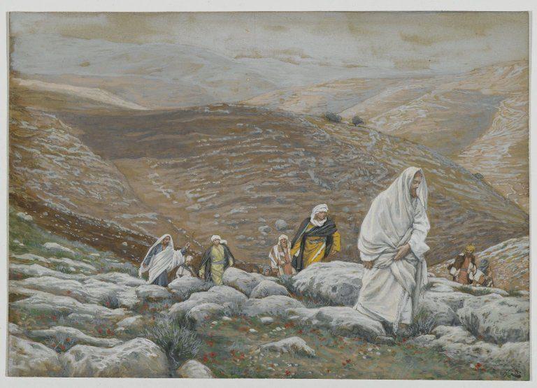 Tissot, Jesus going up to J'lem