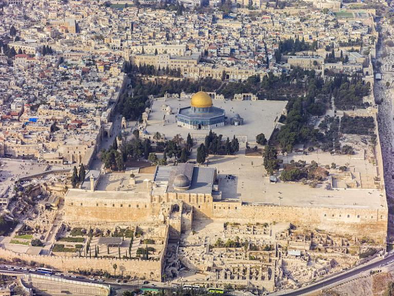 Shiva's Temple Mount from the air