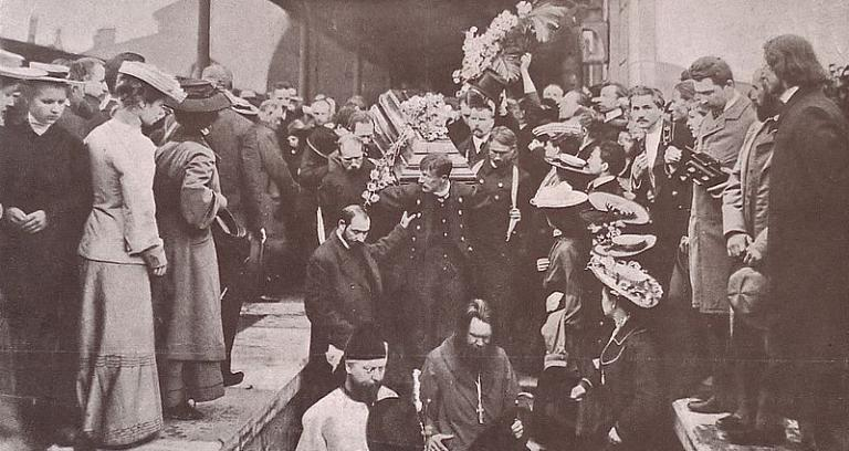 At Chekhov's funeral