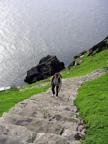 Skellig Michael pathway to top