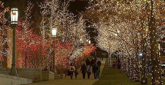 SLC UT USA Temple Square Xmas