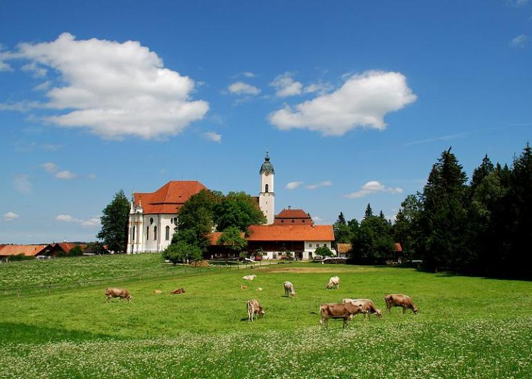Noch eine Ansicht auf die Wieskirche