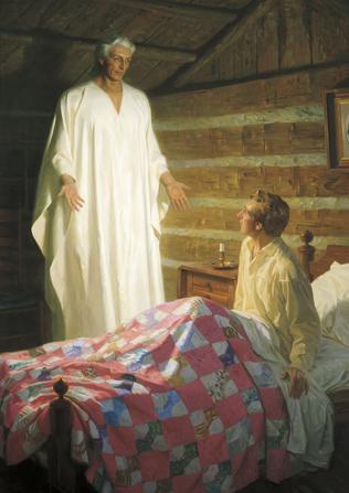 Moroni in the Smith cabin