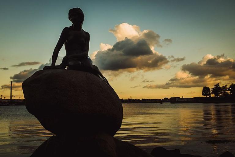The Little Mermaid, in Copenhagen