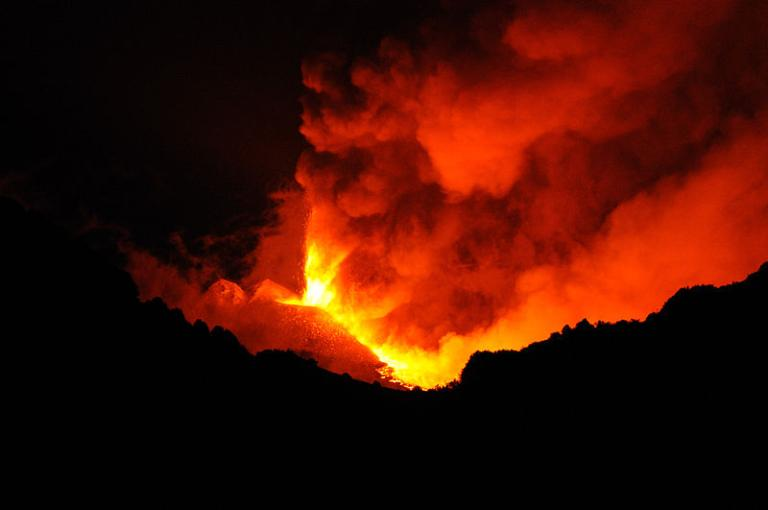 A 2011 eruption at Mt. Etna