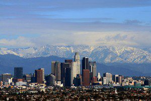 The San Gabriels, with Los Angeles